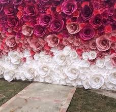 Hanging Paper Flower Backdrop Hanging Paper Flowers On Backdrop Archives W Inzone