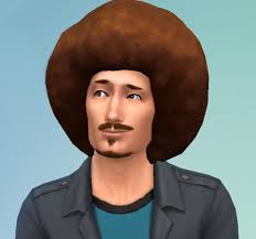 Mod The Sims: Big Afro for Men by Esmeralda ~ Sims 4 Hairs