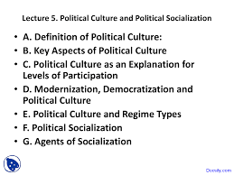 political culture and political socialization comparative this is only a preview
