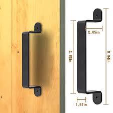 homedeco hardware big size black rustic garden gate shed pull door handle sliding barn door hardware kit