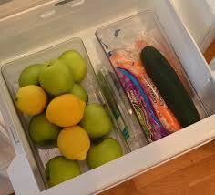 refrigerator vegetable drawer. clear storage bins for refrigerator or shelf vegetable drawer t