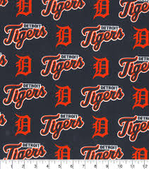 detroit tigers cotton fabric all over