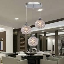 details about set of 3 modern pendant ceiling lights crystal ball light fixture flush mounted