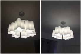 modern artemide logico white cloud glass lamp shade chandelier pendant lamp new