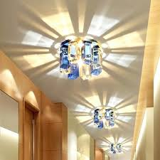chandeliers flush mount modern crystal porch ceiling lamp bedroom hallway living room semi flush mounted ceiling