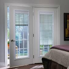 imaginative door with blinds between glass