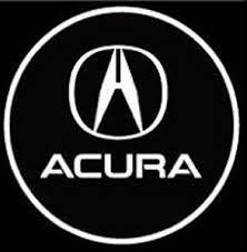 black acura logo. acura led logo door projector light black o
