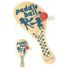 Wooden Ball On String Game BoLo Paddle Ball Blue Wooden Game Wooden paddle 42