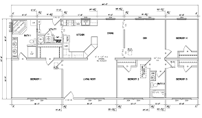 table extraordinary 4 bedroom ranch house plans 3 with walkout basement