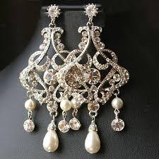 chandelier wedding bridal earrings vintage style statement wedding earrings crystal chandelier earrings alessandra