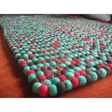 90x160 cm rectangular felt ball rug
