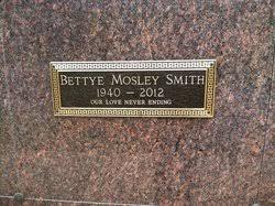 Bettye Mosley Smith (1940-2012) - Find A Grave Memorial
