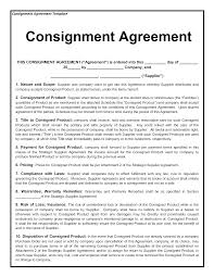 Sample Consignment Agreement Template Consignment Contract Template 1