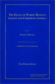 the essays of warren buffett lessons for corporate america by  145565
