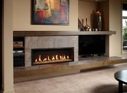 contemporary fireplace. Tan Room Wide Fireplace Tile Contemporary