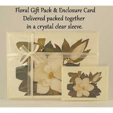magnolia ribbon tied 4 card gift pack