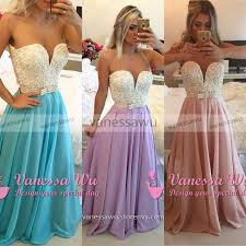 pearl beaded prom dress trendy prom dress transparent back  pearl beaded prom dress trendy prom dress transparent back a line chiffon