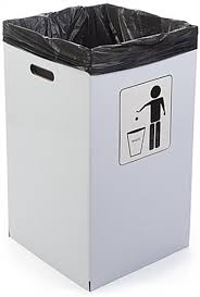 disposable trash cans. 40 Gallon Cardboard Trash Can Disposable Or Reusable Cans I