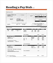 Sample Check Stub 15 Payroll Stub Sample Pay Stub Template