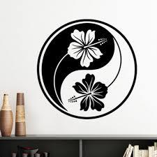 Buddhism Religion Buddhist Black White <b>Yin</b>-<b>yang Flower</b> Design ...