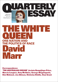 in conversation quarterly essayist david marr the white about t he book