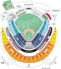 Kauffman Stadium Row Chart 54 Always Up To Date Royals Seating Chart Map