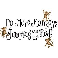 modern decoration no more monkeys jumping on the bed wall art for no more monkeys jumping