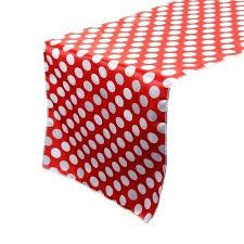 polka dot table linens x inch satin table runner red white polka dots white polka dot polka dot