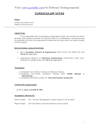 Software Testing Resume For Fresher Spectacular Sample Resume For