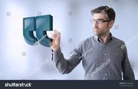 Businessman Touching Quotes Stock Photo Edit Now 557332585