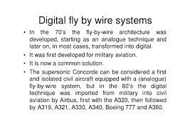 aircraft control systems 42 digital fly by wire