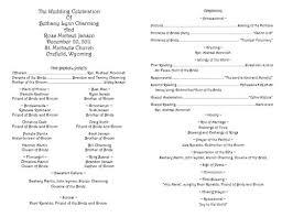 Catholic Wedding Mass Program Free Catholic Wedding Program Templates Available In Corel Draw