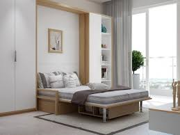 Bedroom Pull Out Bed Wall Be Equipped With White Solid Wood with regard to  measurements 1120