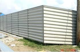 corrugated metal siding sheet metal fence sheet metal fences corrugated metal fence panels pertaining to