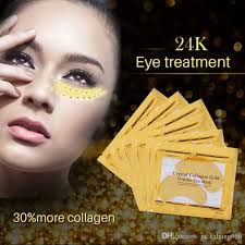 2018 new pilaten gold crystal collagen eye mask eye patches eye mask for face care dark circles remove gel mask with bag dhl face creams puffiness under