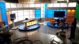 Tv studio furniture Table Design Tv Set Designs Studio Set Design
