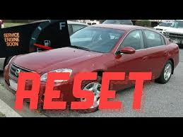 How to reset Service Engine soon Light on a 2004 Nissan Altima ...