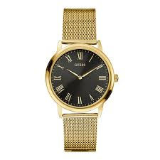 guess iconic stainless steel men s watch price in buy guess iconic stainless steel men s watch gold stainless steel band w0406g6