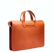 slim leather briefcase mens portfolio personalized bags