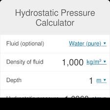 Hydrostatic Pressure Calculator Omni