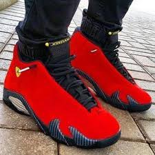 Nike Air Jordan 14 Retro Ferrari Available At Kickbackzny Com Sneakers Men Fashion White Jordan Shoes Red Sneakers