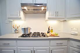 modest white kitchen with subway tile backsplash awesome design ideas