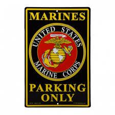 12x18 Inch U.S. Marines Emblem Embossed Metal Sign – Marine Corps ...