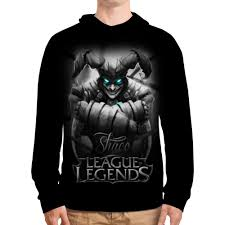 Толстовка с полной запечаткой <b>League of Legends</b>. Шако ...
