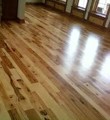hickory wood flooring rustic living room