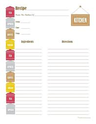 Full Page Recipe Templates Free Recipe Template For Word Blank Page Card Ms Full