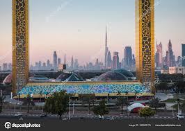 dubai united arab emirates january 13th 2018 dubai frame building stock photo