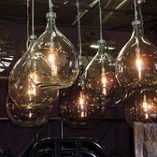 industrial bottle lights made with hand blown glass at hudsongoodscom blown glass bottle pendant