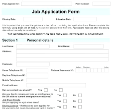 Free Downloadable Employment Application Forms Basic Employment Application Template Free Job Application