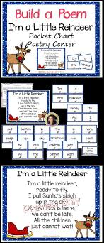 Pocket Chart Poems For Kindergarten Build A Poem Im A Little Reindeer Christmas Pocket